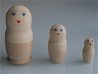 3 matryoshka with face